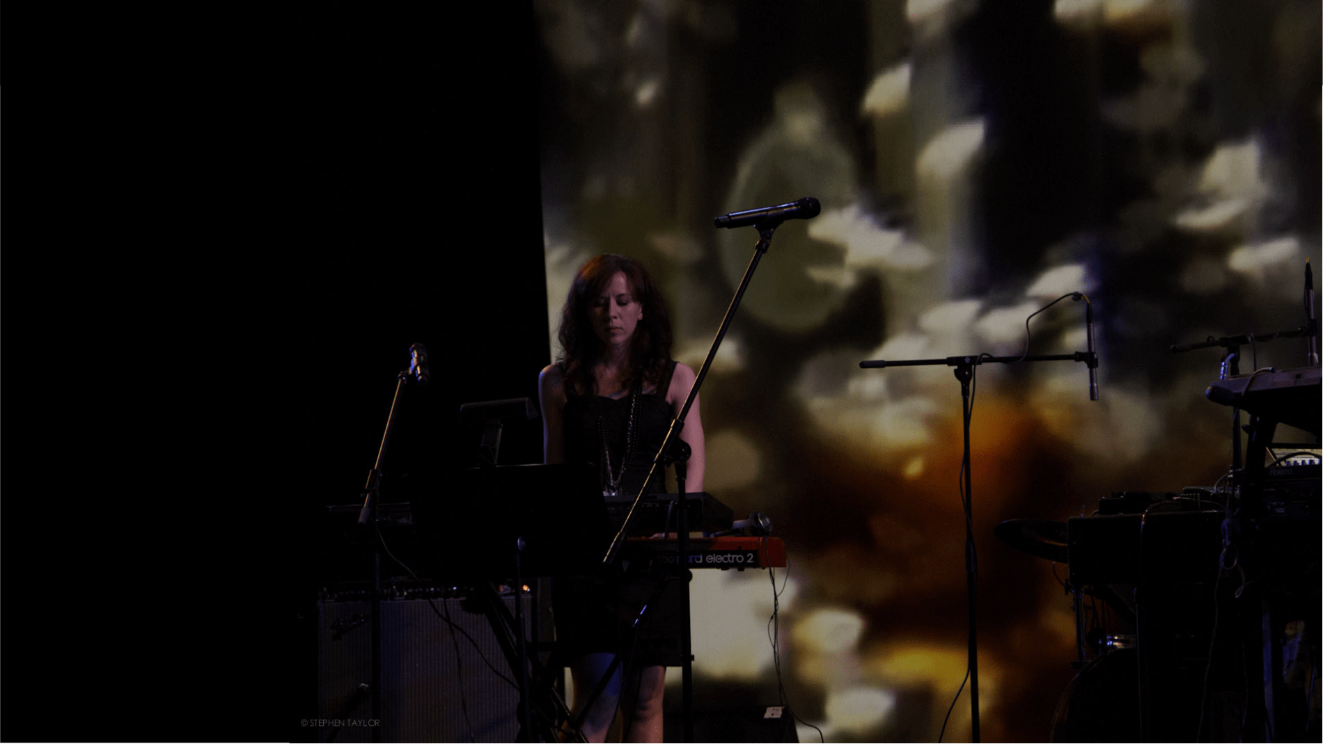 Missy Mazzoli performing on stage